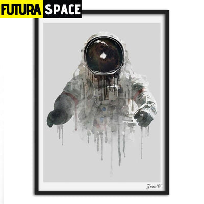 SPACE POSTER - Astronaut Wall Pictures - 15x20cm No frame /