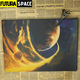 SPACE POSTER - Astronomy & Space Vintage - 30x21cm / Brown -