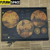 SPACE POSTER - Astronomy & Space Vintage - 30x21cm / Green -