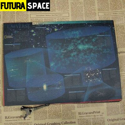 SPACE POSTER - Astronomy & Space Vintage - 30x21cm / White -