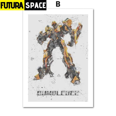 SPACE POSTER - Autobots - 13X18 cm No Framed / B - 1704