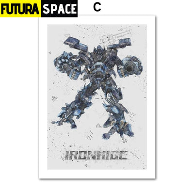 SPACE POSTER - Autobots - 13X18 cm No Framed / C - 1704