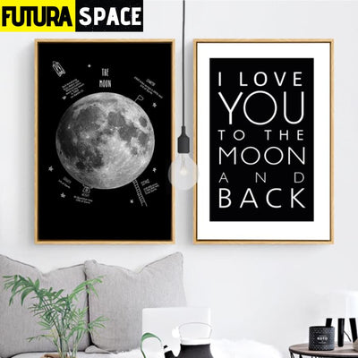 SPACE POSTER - Black and White Earth - 1704
