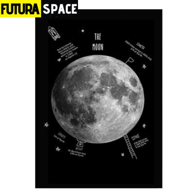 SPACE POSTER - Black and White Earth - 10x15 cm no frame /