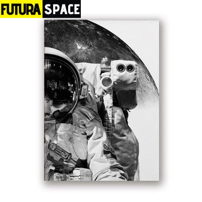 SPACE POSTER - Black And White - 13x18 cm No Frame / PH2338