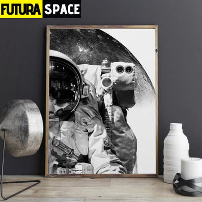 SPACE POSTER - Black And White - 1704