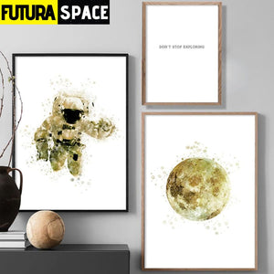 SPACE POSTER - Home Decoration Astronauts - 1704