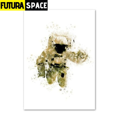 SPACE POSTER - Home Decoration Astronauts - 10x15cm No Frame
