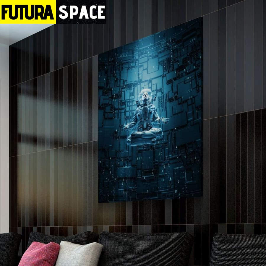 SPACE POSTER - Meditating Astronaut - 1704