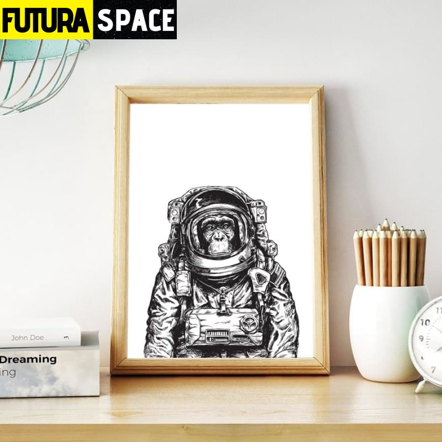 SPACE POSTER - Monkey Astronaut - 1704