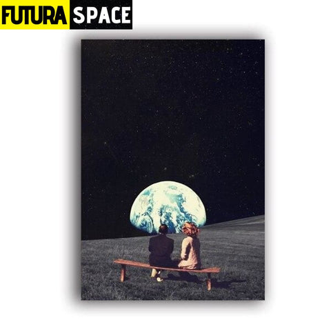 SPACE POSTER - MOON - A5 15x21 cm No Frame / 6L107 - 1704