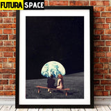 SPACE POSTER - MOON - 1704