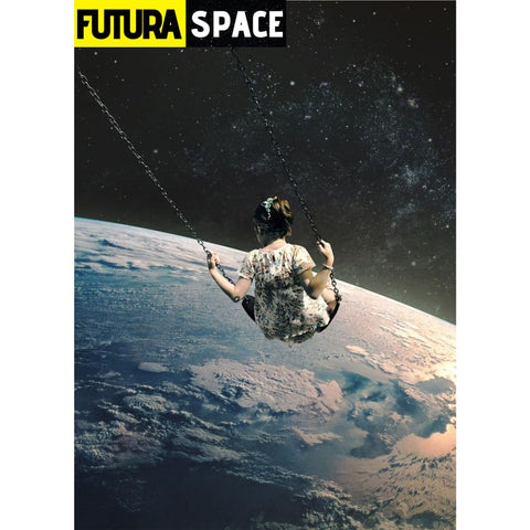 SPACE POSTER - Night Sky - 13X18cm No Frame / no frame 2 -
