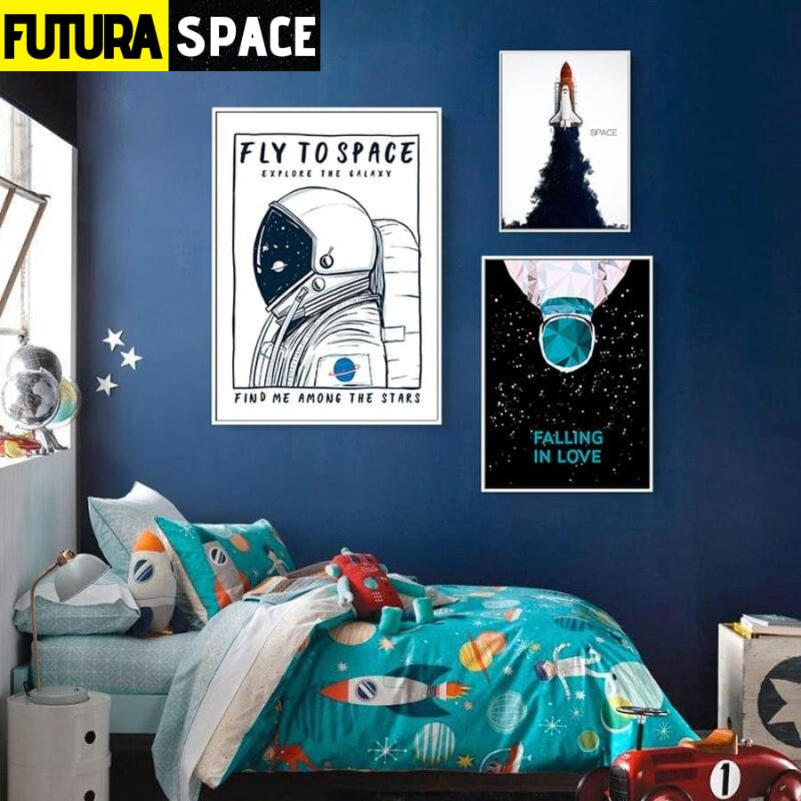 SPACE POSTER - Nordic Spaceship - 1704