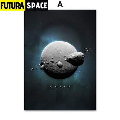 SPACE POSTER - Planet Canvas - 13X18 cm No Framed / A - 1704