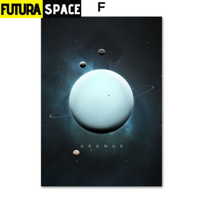 SPACE POSTER - Planet Canvas - 13X18 cm No Framed / F - 1704