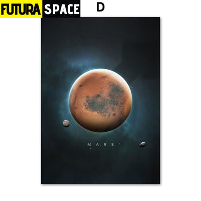 SPACE POSTER - Planet Canvas - 13X18 cm No Framed / D - 1704