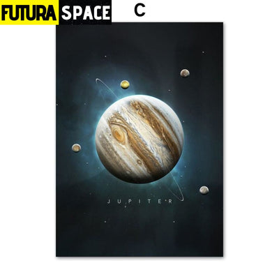 SPACE POSTER - Planet Canvas - 13X18 cm No Framed / C - 1704