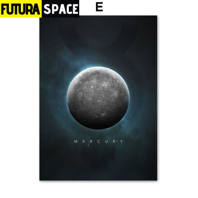 SPACE POSTER - Planet Canvas - 13X18 cm No Framed / E - 1704