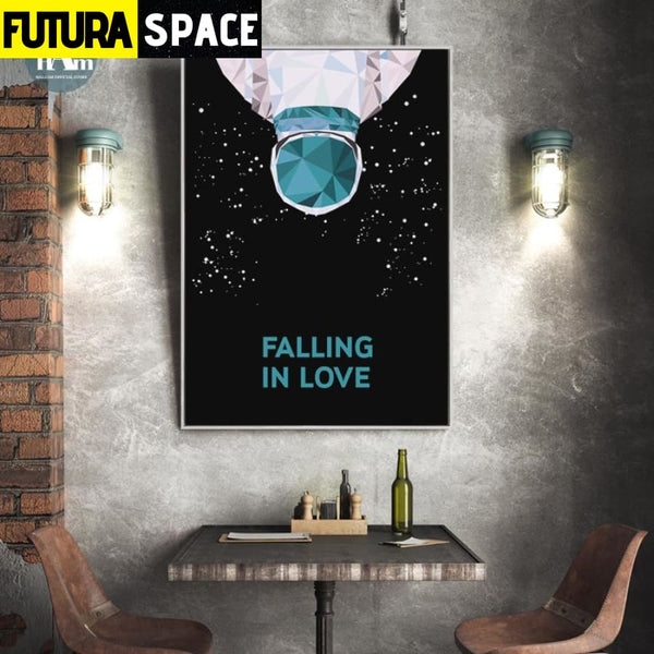 SPACE POSTER - Planet night sky - 1704