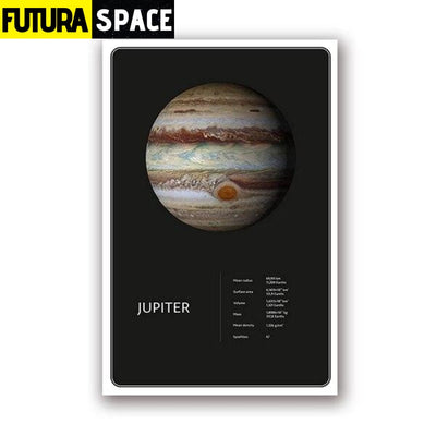 SPACE POSTER - Planets theme - 13x18 cm No Frame / PH1961 -
