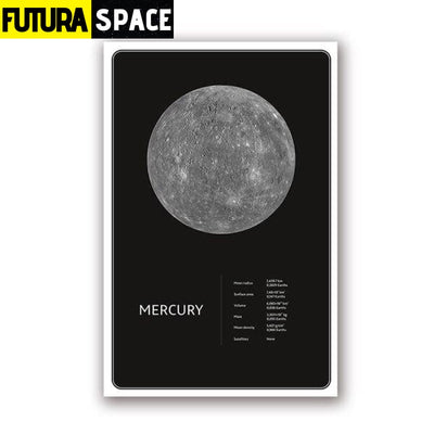 SPACE POSTER - Planets theme - 13x18 cm No Frame / PH1959 -