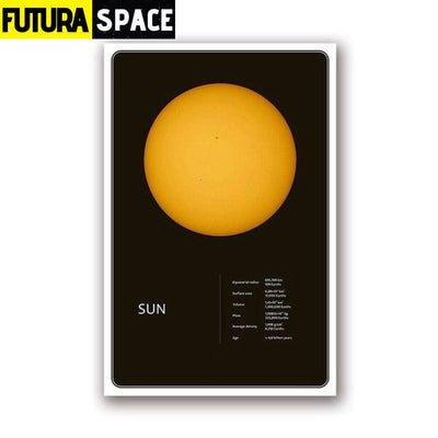 SPACE POSTER - Planets theme - 13x18 cm No Frame / PH1964 -