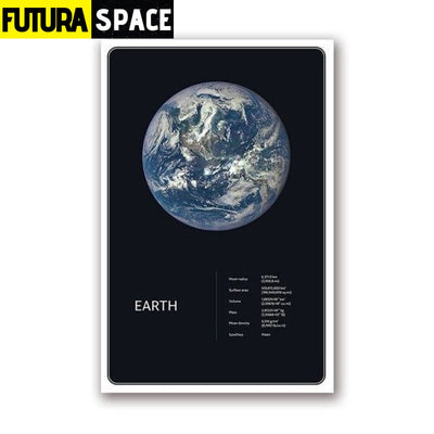 SPACE POSTER - Planets theme - 13x18 cm No Frame / PH1960 -