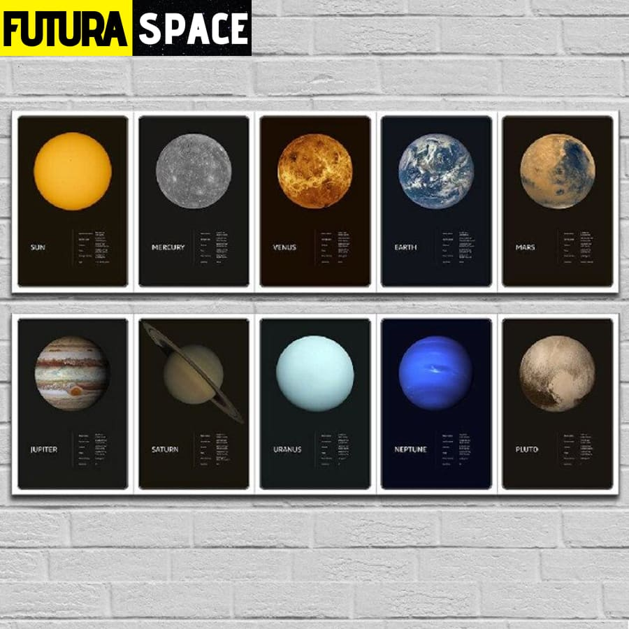 SPACE POSTER - Planets theme - 1704