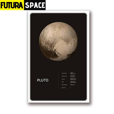 SPACE POSTER - Planets theme - 13x18 cm No Frame / PH1968 -