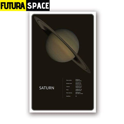 SPACE POSTER - Planets theme - 13x18 cm No Frame / PH1967 -