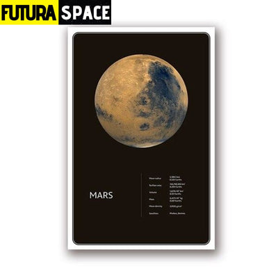 SPACE POSTER - Planets theme - 13x18 cm No Frame / PH1966 -