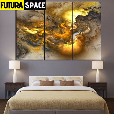 SPACE POSTER - psychedelic art - 20X40cmX3 unframed /