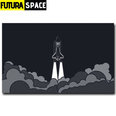 SPACE POSTER - Rocket Art - 1704