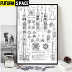 SPACE POSTER - ROCKET - 1704