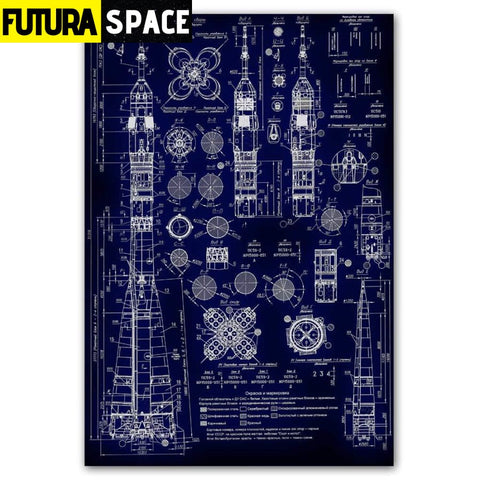 SPACE POSTER - ROCKET - 30x45cm no frame / jy1375 - 1704