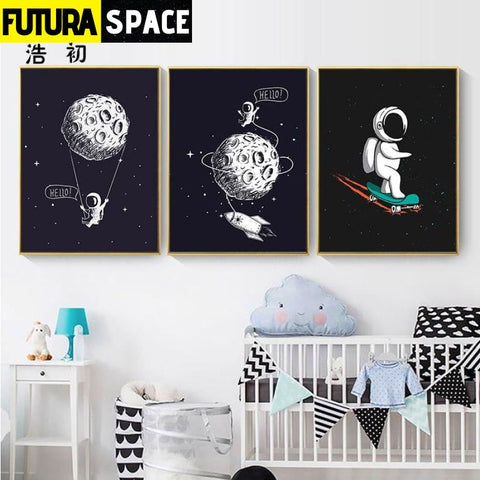 SPACE POSTER - Rocket Wall Art - 13X18cm No Frame / three