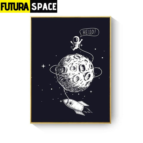 SPACE POSTER - Rocket Wall Art - 13X18cm No Frame / XY033C -