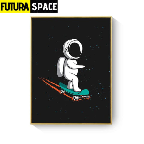 SPACE POSTER - Rocket Wall Art - 13X18cm No Frame / XY033B -