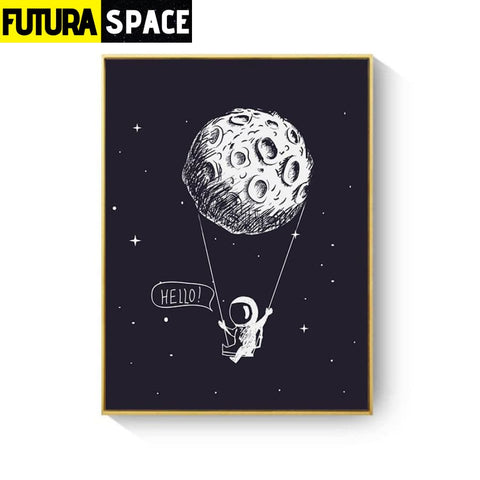 SPACE POSTER - Rocket Wall Art - 13X18cm No Frame / XY033D -
