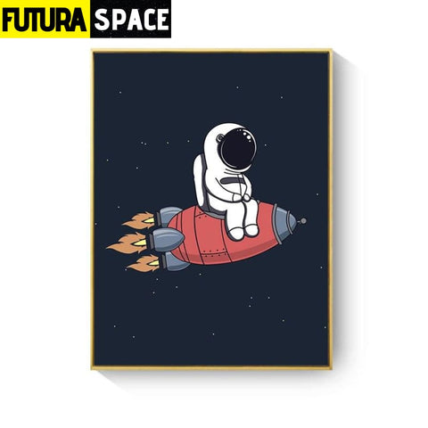 SPACE POSTER - Rocket Wall Art - 13X18cm No Frame / XY033A -