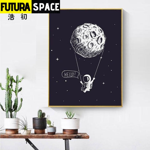 SPACE POSTER - Rocket Wall Art - 1704