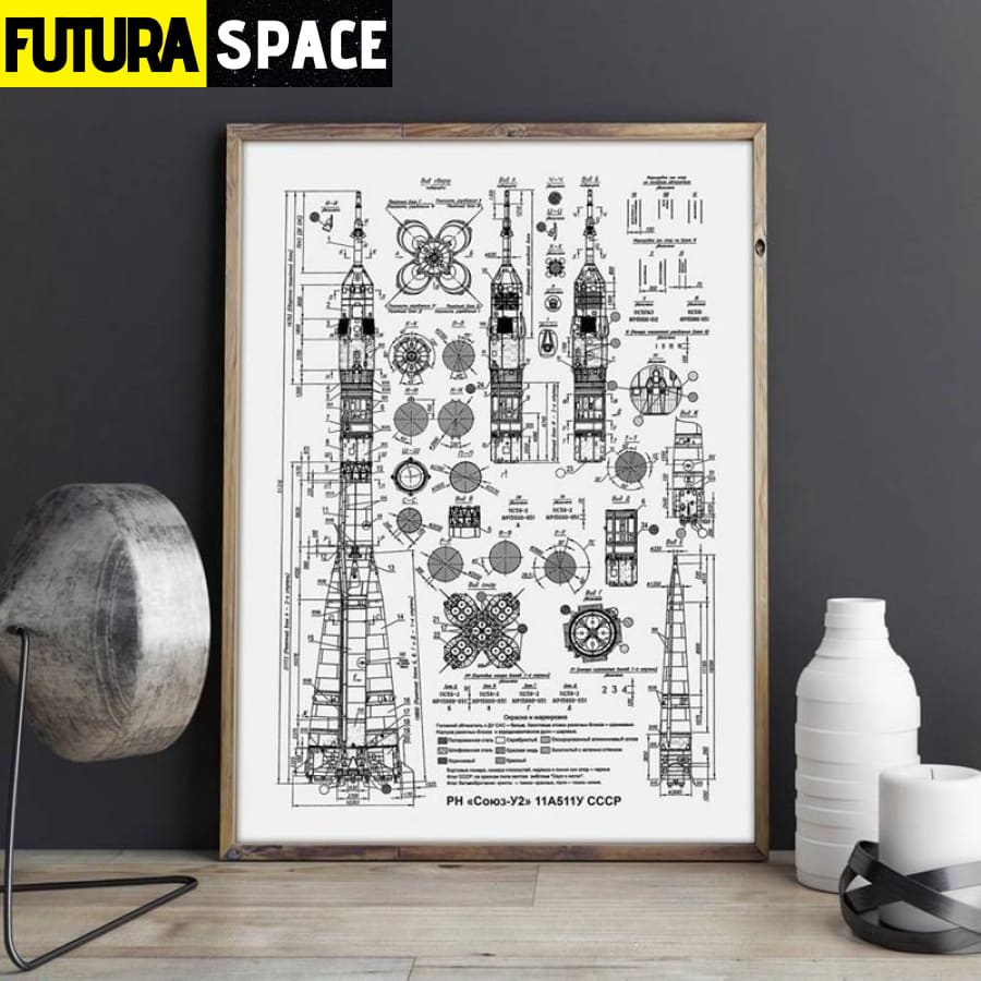 SPACE POSTER - Russian Rocket - 1704