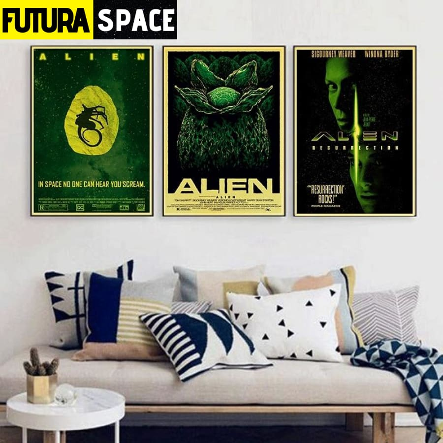 SPACE POSTER - Sigourney Weaver Sci-Fi franchise - 1704