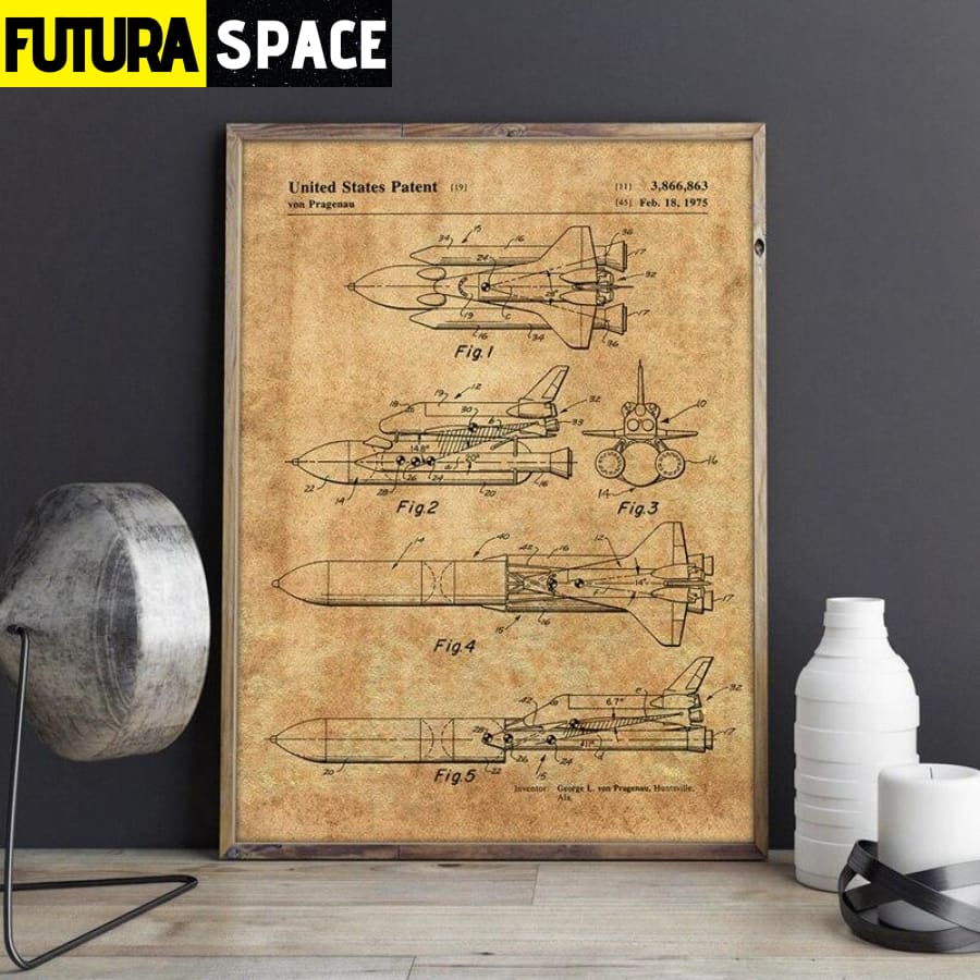 SPACE POSTER - Space Shuttle Artwork - 1704