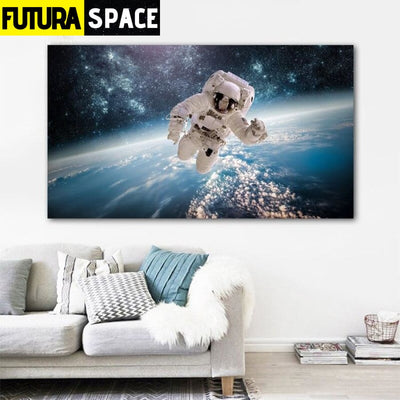 SPACE POSTER - Spaceman Canvas - 20x35cm No Frame / W 1106-8