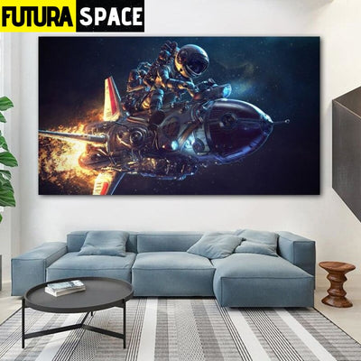 SPACE POSTER - Spaceman Canvas - 20x35cm No Frame / W 1106-7