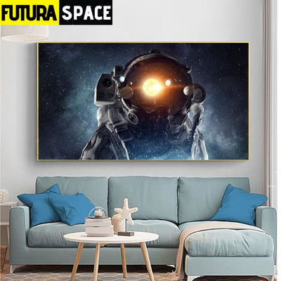 SPACE POSTER - Spaceman Canvas - 20x35cm No Frame / W