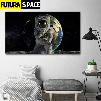 SPACE POSTER - Spaceman Canvas - 20x35cm No Frame / W 1106-6