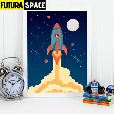 SPACE POSTER - Spaceship Illustration - 1704